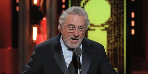 Robert De Niro lors de la 72ème cérémonie des Tony Awards à New York, dimanche 10 juin 2018.