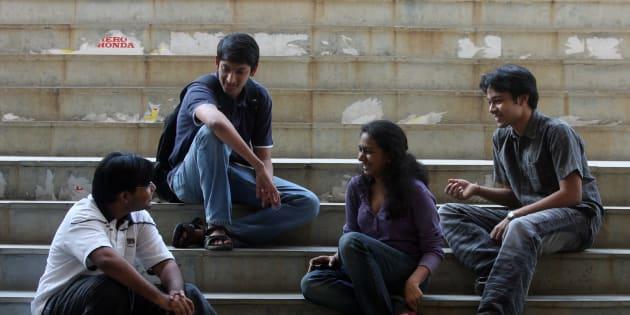 Students in IIT Mumbai.