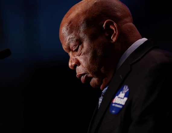 John Lewis harassed with Trump chants on airplane