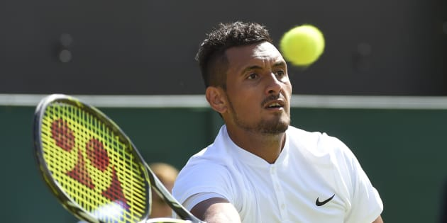 Kyrgios has beaten Dustin Brown in Wimbledon's second round.