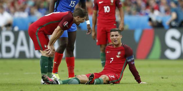Cristiano Ronaldo lors de la finale de l'Euro France-Portugal le 10 juillet 2016.