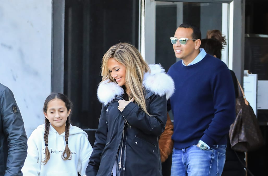 Jennifer Lopez can't stop smiling with Alex Rodriguez while