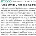 Un restaurante de Zamora triunfa con su implacable respuesta a un usuario que rompió