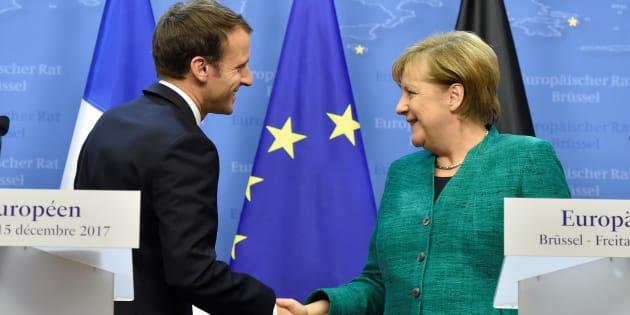 """Accord Merkel-SPD en Allemagne: Macron salue une """"bonne nouvelle pour l'Europe"""" et pour lui"""