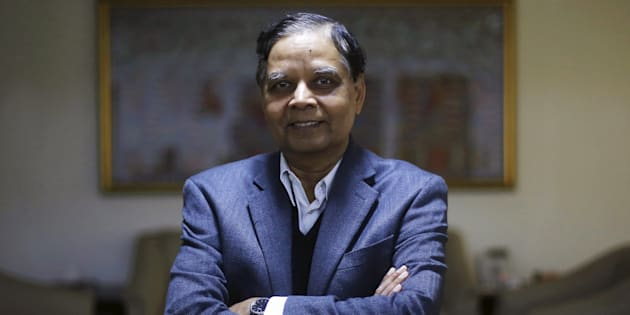 Arvind Panagariya, head of the government's main economic advisory body, poses for a picture after an interview with Reuters in New Delhi, India, January 18, 2016.