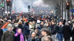 La grève bien suivie à la SNCF, 400.000 manifestants en France dont 40.000 à Paris, selon la