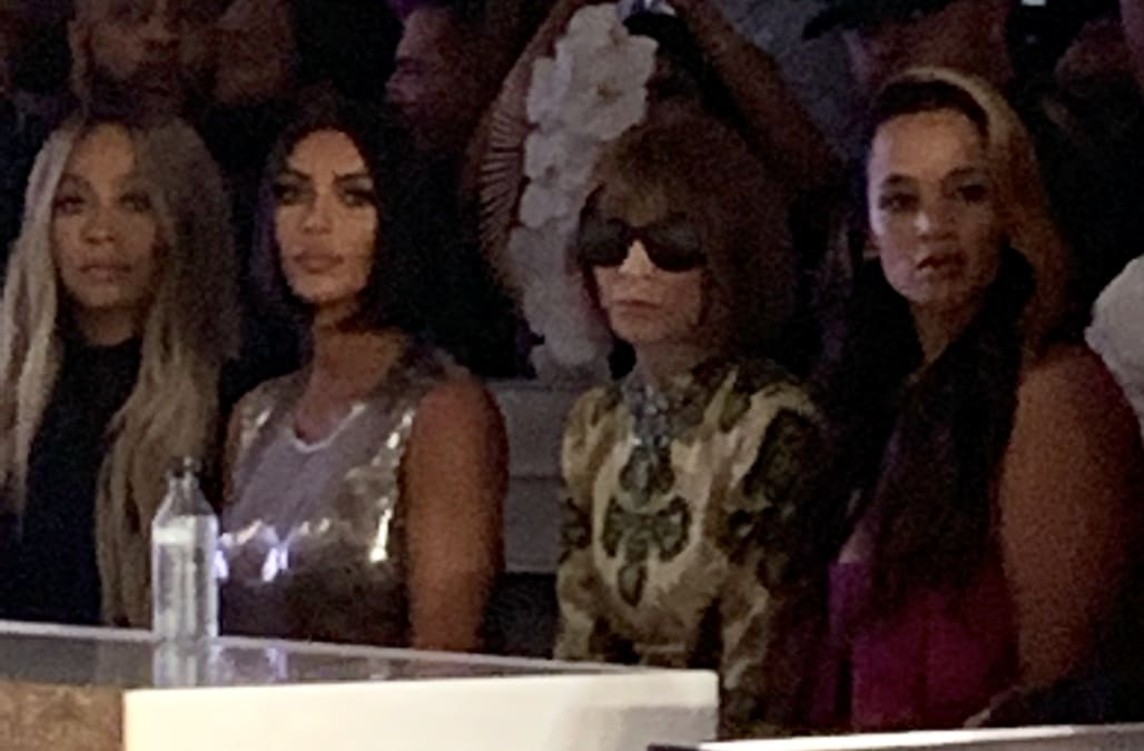 Kim and Anna Wintour take the front row at Serena Williams' NYFW show - AOL