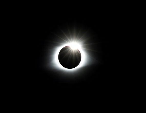 Solar eclipse burned crescent shape into woman's eye