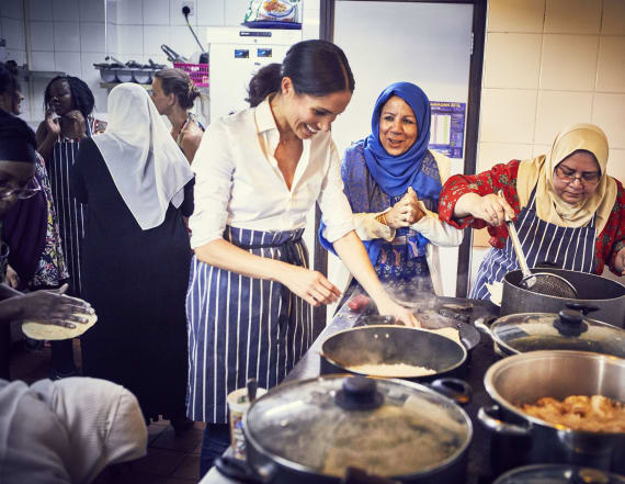 Meghan works with fire survivors for new cookbook
