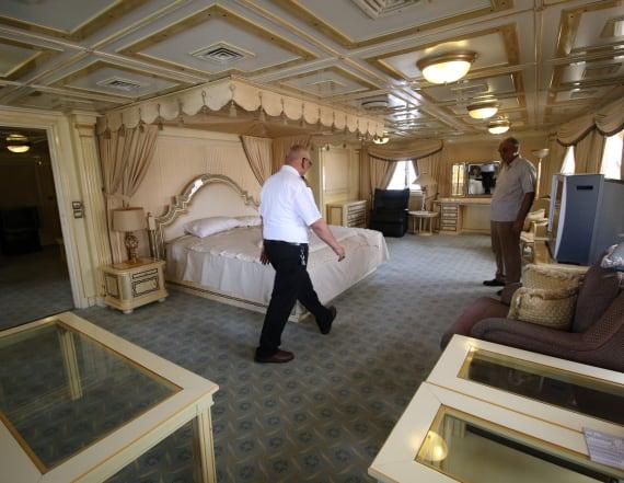 Saddam's super yacht winds up as sailors' hotel
