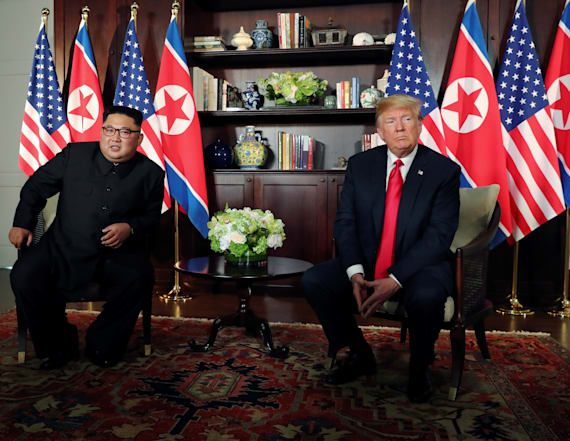 Trump touts 'great chemistry' with Kim Jong Un