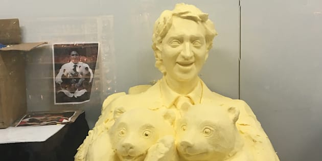 The Justin Trudeau butter sculpture can be seen at the Canadian National Exhibition until Sept. 4, 2017.