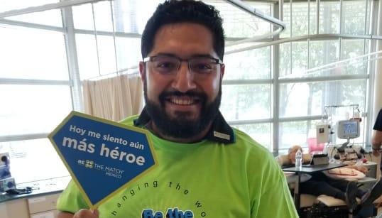 En unas horas, Ramón donó células madre de la médula ósea y salvó a un
