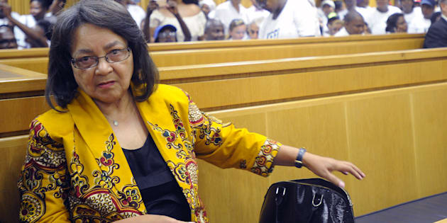 Patricia de Lille pictured during the case between her and the DA at the high court in Cape Town on February 13, 2018.