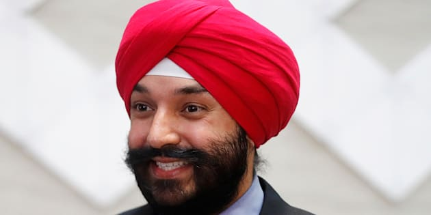 Innovation Minister Navdeep Bains smiles during an announcement in Toronto on Dec. 12, 2016.