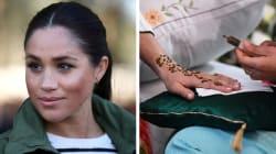 Meghan si fa tatuare la mano con l'hennè: il disegno è un buon augurio per la