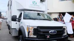 Decomisan presunto camión del IMSS con más de 370 kilos… de