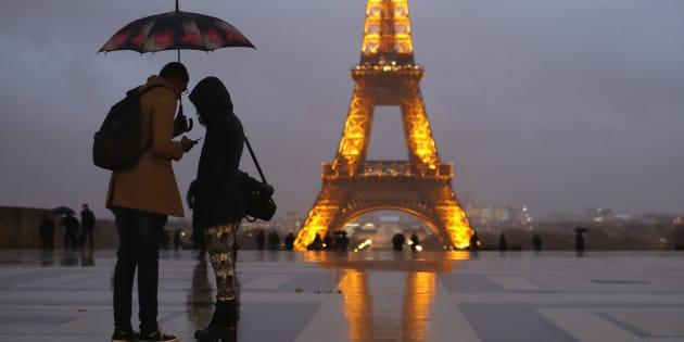 Une photo de la Tour Eiffel prise le 12 janvier 2017.
