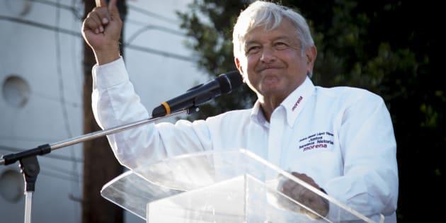 Andrés Manuel López Obrador de gira por Tijuana, Baja California, el 14 de abril de 2018.