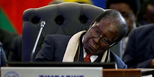 Former Zimbabwean President Robert Mugabe at the 37th Ordinary SADC Summit in 2017.