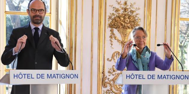 Edouard Philippe et Elisabeth Borne à Matignon le 26 février 2018.