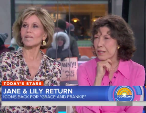 Jane Fonda shades Megyn Kelly on the 'Today' show