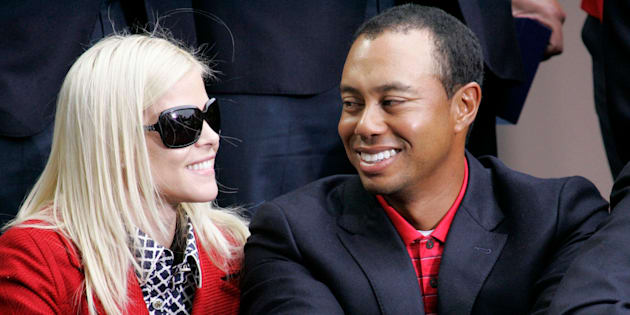 Tiger and Elin at the 2009 closing ceremonies for the Presidents Cup in San Francisco.