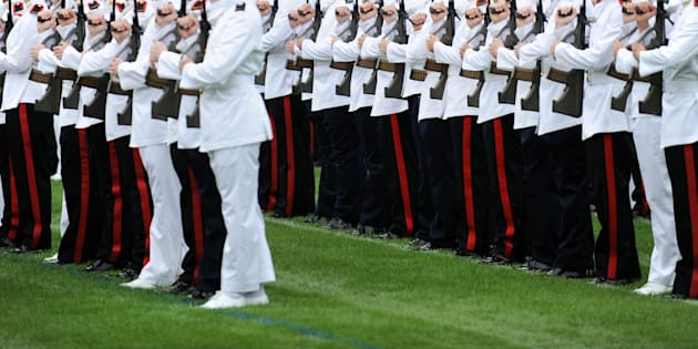 An Australian Defence Force Academy cadet has been arrested.
