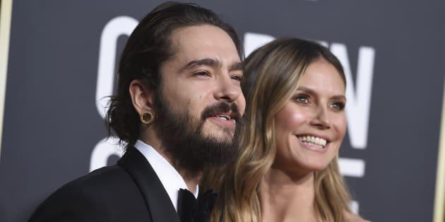 Tom Kaulitz, et Heidi Klum aux 76ème Golden Globes le dimanche 6 janvier à Beverly Hills.
