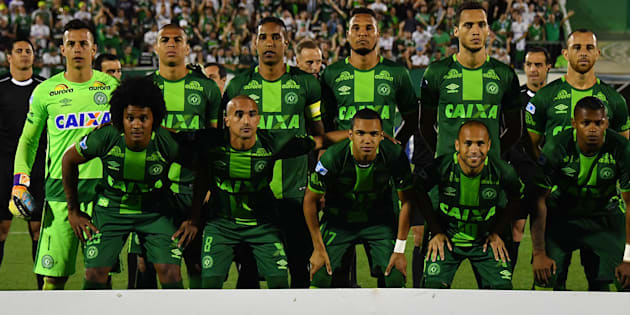 Chapecoense, ici le 23 novembre dernier face à Palmeiras, avait surpris le football sud-américain en se hissant en finale de la coupe continentale