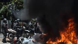 VIDEO: Explota artefacto e incinera motocicletas de Policía de