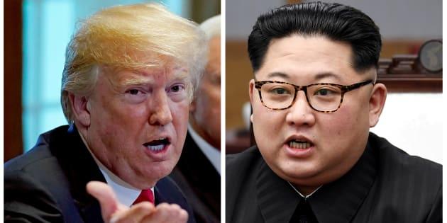 Donald Trump y Kim Jong Un, en sendas imágenes de archivo.