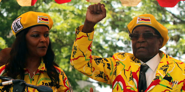 President Robert Mugabe and his wife Grace.