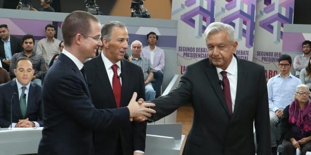 Ricardo Anaya, José Antonio Meade y Andrés Manuel López Obrador, los principales candidatos a la elección presidencial 2018 de México.