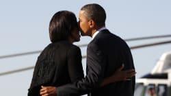 Los Obama se tuitearon tiernos mensajes de San