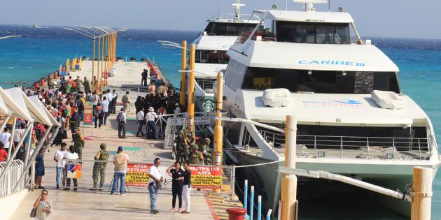 El 21 de febrero pasado se presentó un incidente en un ferry que conecta a Playa del Carmen con la isla de Cozumel.