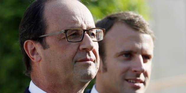 François Hollande et Emmanuel Macron à Paris, en septembre 2014.