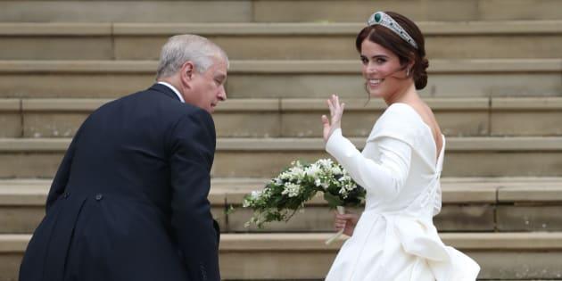 Im A-Linienkleid gab Prinzessin Eugenie ihrem Jack Brooksbank das Jawort. (Bild: Getty Images)
