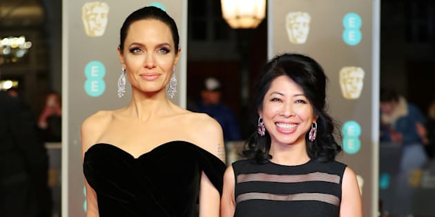 Angelina Jolie y Loung Ung.