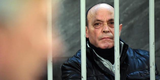 Rocco Schirripa, arrestato quasi un anno fa come presunto esecutore materiale dell'omicidio del 1983 del procuratore di Torino Bruno Caccia, ascolta il pm Marcello Tatangelo in aula a Palazzo di Giustizia, Milano, 30 novembre 2016. ANSA/ DANIEL DAL ZENNARO