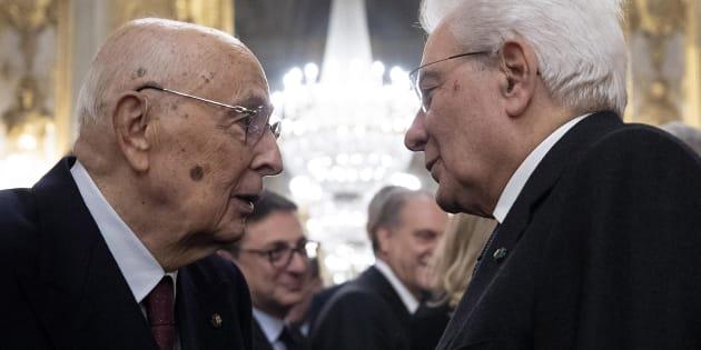 Giorgio Napolitano e Sergio Mattarella