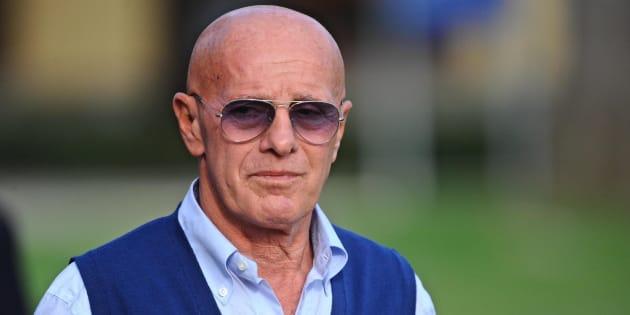 Arrigo Sacchi visita il ritiro azzurro di Coverciano, Firenze, 7 ottobre  2014 ANSA/MAURIZIO DEGL INNOCENTI