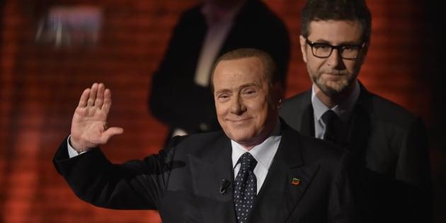 Silvio Berlusconi durante la trasmissione televisiva 'Che tempo che fa', Milano, 24 Maggio 2015. ANSA/FLAVIO LO SCALZO
