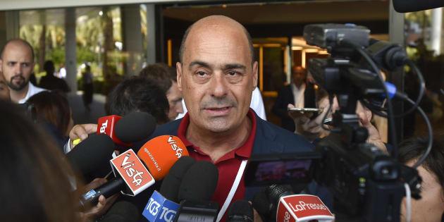 Nicola Zingaretti durante l'assemblea nazionale del Partito Democratico, Roma 07 Luglio 2018