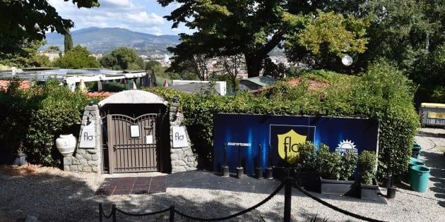 Il luogo dove  due carabinieri sarebbero intervenuti, insieme ad altre pattuglie, per dei disordini in una discoteca a Firenze, 8 settembre 2017. ANSA/MAURIZIO DEGL ' INNOCENTI