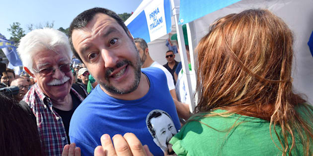 Italian 'Lega Nord' party leader Matteo Salvini greets supporters as he arrives at the yearly meeting of the party in Pontida, Bergamo district, Italy, 1 July 2018 ANSA/DANIEL DAL ZENNARO