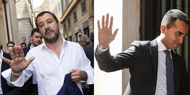 Matteo Salvini (S) e Luigi Di Maio in due foto combinate ANSA