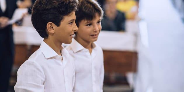 I fratellini di Messina, a sinistra Francesco Filippo, a destra Raniero, morti in un incendio ha devastato l'appartamento al primo piano di via dei Mille 134, 15 giugno 2018. ANSA/GIANLUCA ROSSELLINI