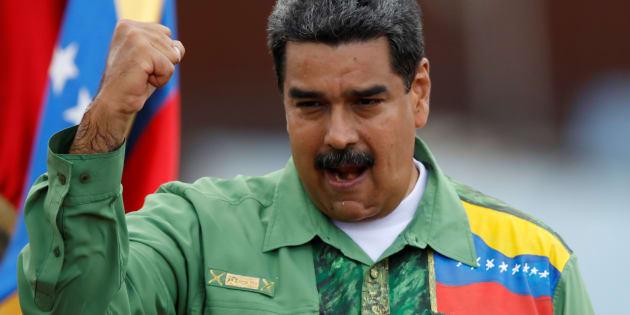 El presidente de Venezuela, Nicolás Maduro, durante un acto de campaña el pasado mayo, en Caracas.