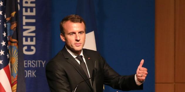 Emmanuel Macron à New York le 20 septembre 2017.